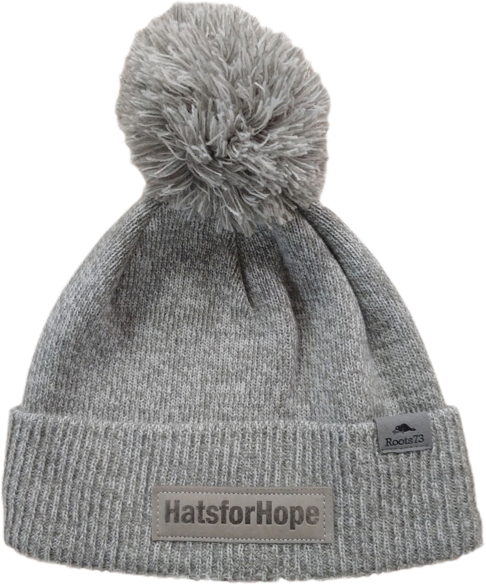 Image of grey toque with pompom